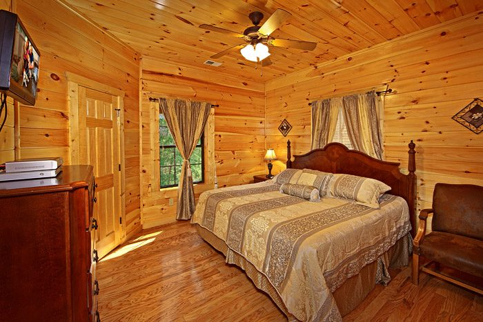 Master Bedroom with a King Sized Bed - 2 Good to be True