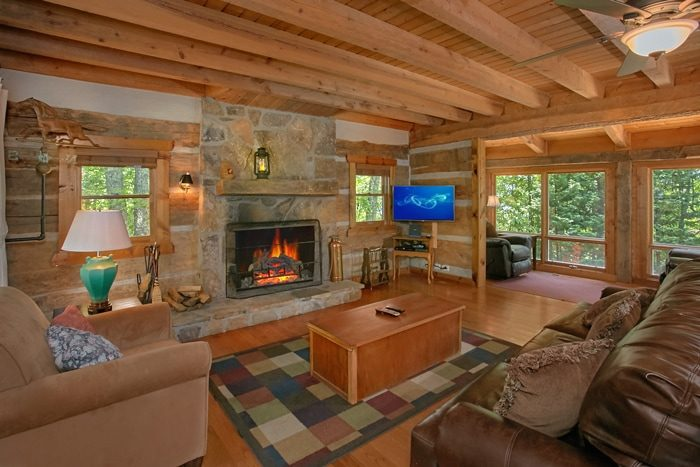 Gatlinburg Cabin with Living Room and Fireplace - 4 Seasons Gatlinburg