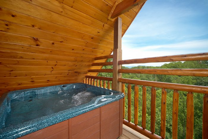 Hot Tub that Features Smoky Mountain Scenic View - 5 O'Clock Somewhere