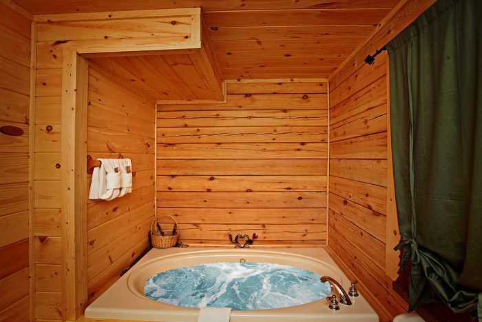 Jacuzzi in Bathroom of Master Suite - A Bear Abode