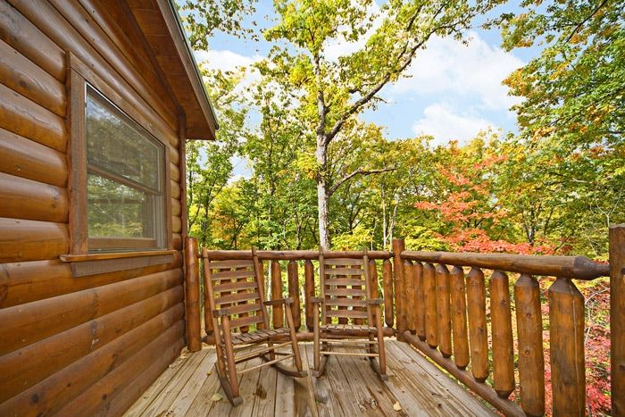 Deck with Scenic Views - A Bear Encounter