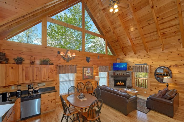Cabin with Well Furnished Living Room - A Bear Endeavor