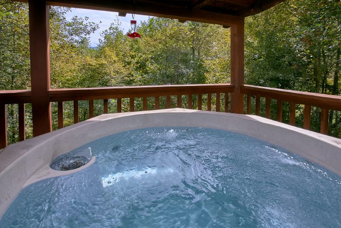 Gatlinburg Honeymoon Cabin with Hot Tub and View - A Bears Gatlinburg Den
