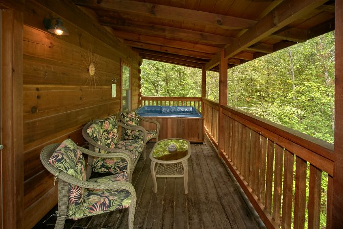 Private Cabin with Wooded View and Hot Tub - A Bear's Hideaway