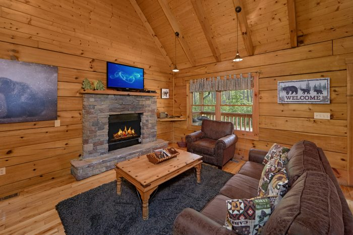 Cabin with fireplace and wooded location - A Bear's Hideaway