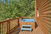 Cabin with Private Hot Tub and Wooded View