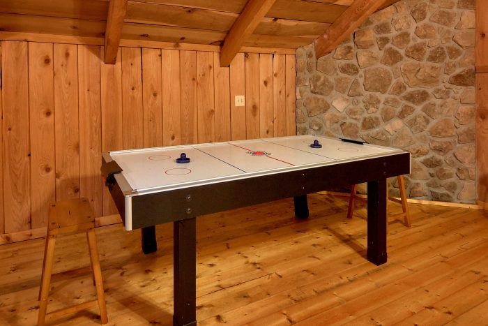 Game Room with Air Hockey Table - A Creekside Retreat