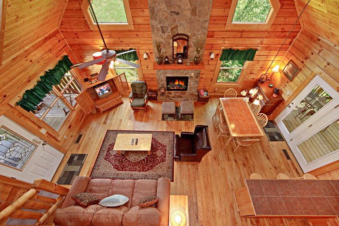Open Floor Plan in Cabin - A Daze End