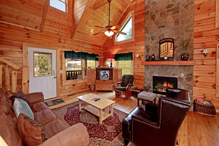 Living Area in Cabin - A Daze End