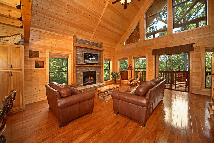 Cabin with Fireplace - A Friendly Forest