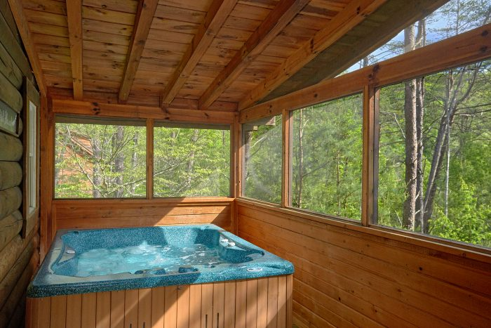 Honeymoon Cabin with Hot Tub and Screened Porch - A Gift From Heaven