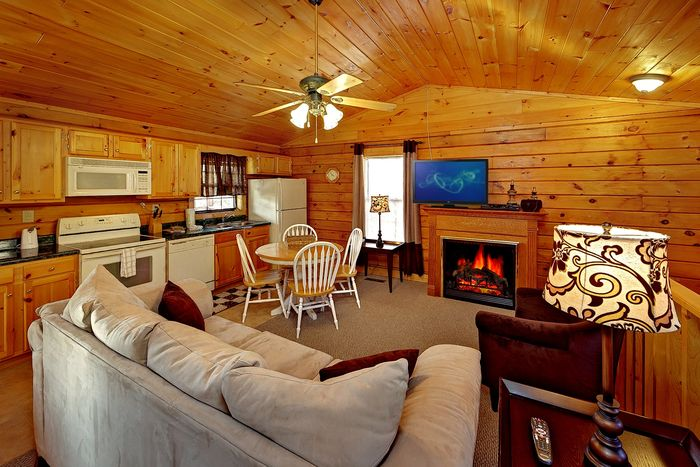 Cabin Near Dollywood with Living Room - A Hilltop Heaven