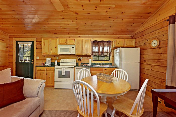 Cabin with Living Room and Kitchen on Main Level - A Hilltop Heaven