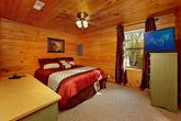 Queen Bedroom on Bottom Level of Cabin