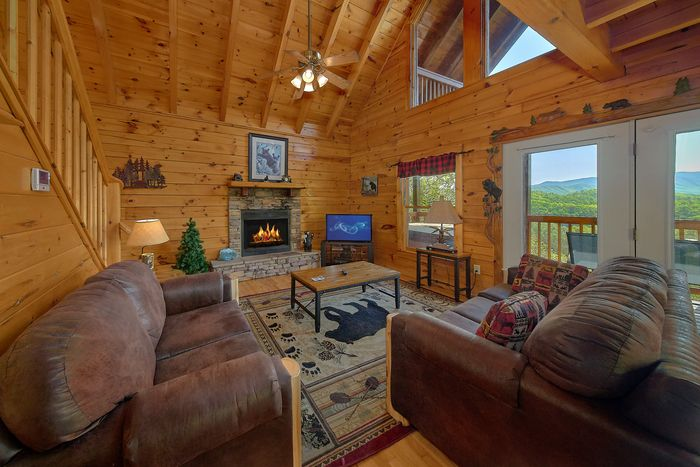 Living Area with views - A Lazy Bear's Hideaway