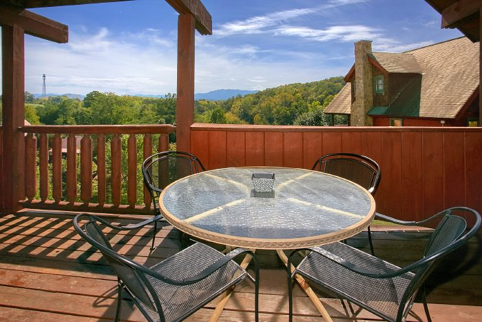 Pigeon Forge Cabin with Furnished Deck - A Little Bit Of Heaven