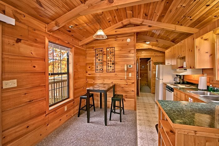 Cabin with dining table - A Long Kiss Goodnight