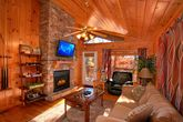 Honeymoon Cabin with Fireplace and Sleeper Sofa