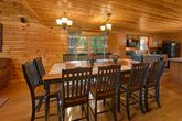Spacious Dining Room in 5 bedroom cabin