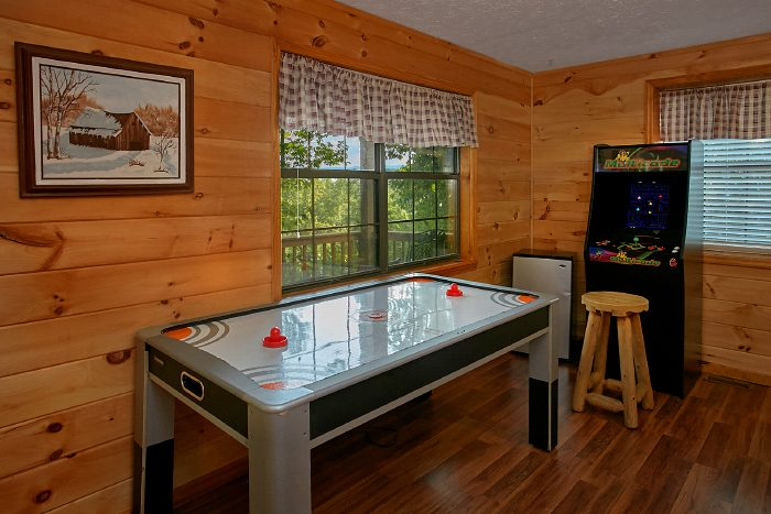 Game Room with Air Hockey and Video Arcade - A Ruff Life
