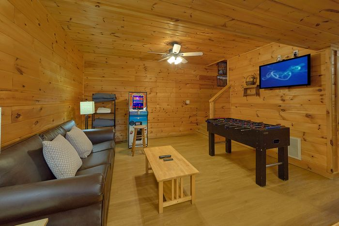 Foose Ball table and Arcade Game in Cabin - A Smoky Mountain Experience