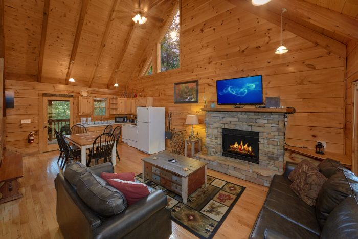 Living Room in Cabin - A Stones Throw