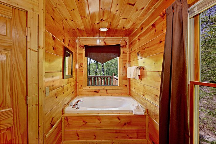 Great Jacuzzi in Gatlinburg Master King Bedroom - A Tennessee Treasure