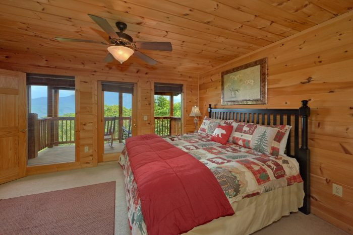 5 Bedroom Cabin with Fireplace in Bedroom - A View From Above