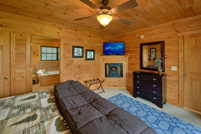Master Bedroom with Fireplace and Jacuzzi Tub - A View From Above