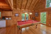 Pool Table on Main Level of Cabin