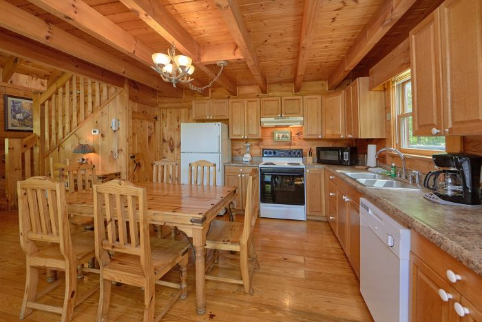 Cabin Rental with Open Kitchen and Dining Area - A Woodland Hideaway