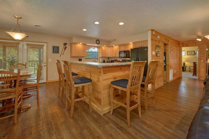 Spacious cabin with extra bar seating in kitchen - Above the Rest