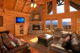 Luxurious Living Room with Fireplace and View
