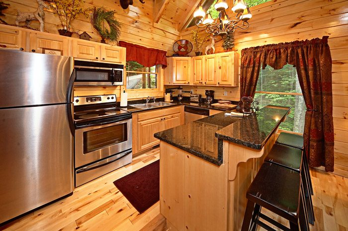 Kitchen with Stainless Steel Appliances - Adler's Ridge