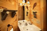 Decorated Bathroom in One Bedroom Cabin
