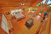 View of Spacious King Bedroom From Loft