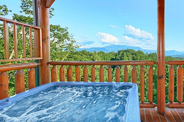 Hot Tub with Great Views - Adventure Lodge