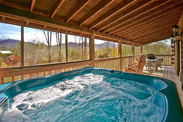 Cabin with Hot Tub on covered deck - Almost Heaven