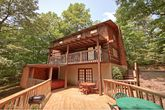 Cabin with Private Back Deck and Hot Tub