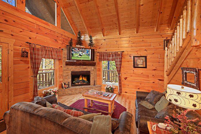 Smoky Mountain Cabin with Living Room - Antler Ridge