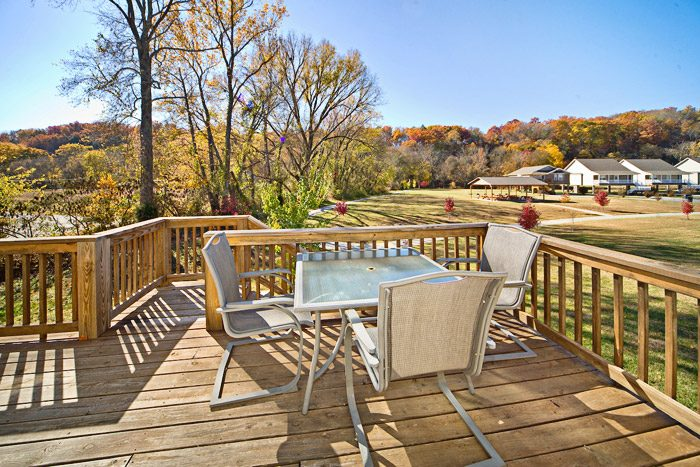 Deck with Outside Furniture - Applewood