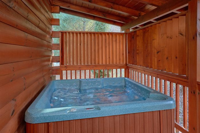 Cabin with Private Hot tub and Fire pit area - April's Diamond