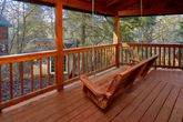 Secluded cabin with Porch Swing and Fire Pit