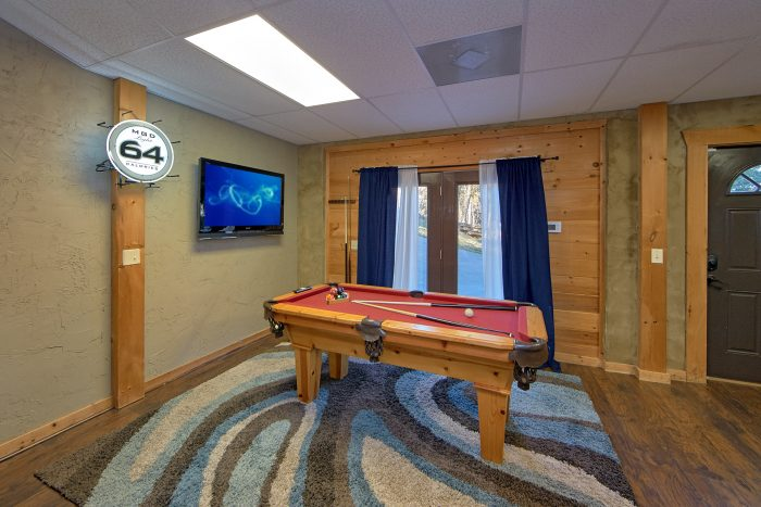 Pool Table Game Room Cabin Sleeps 8 - Arcade At The Boondocks