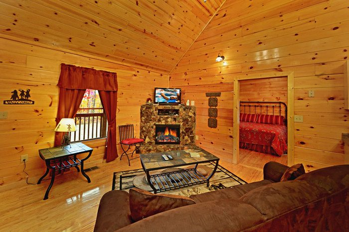 Cabin with Cozy Living Room - At Trails End