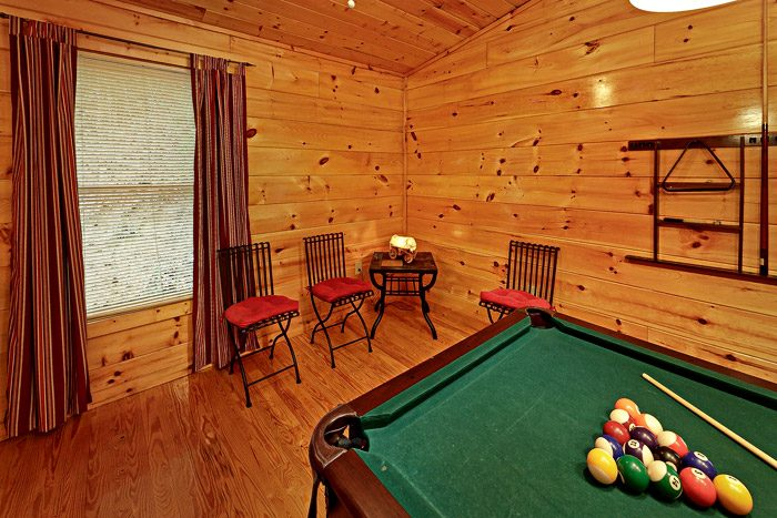 Pool Table in Game Room - At Trails End