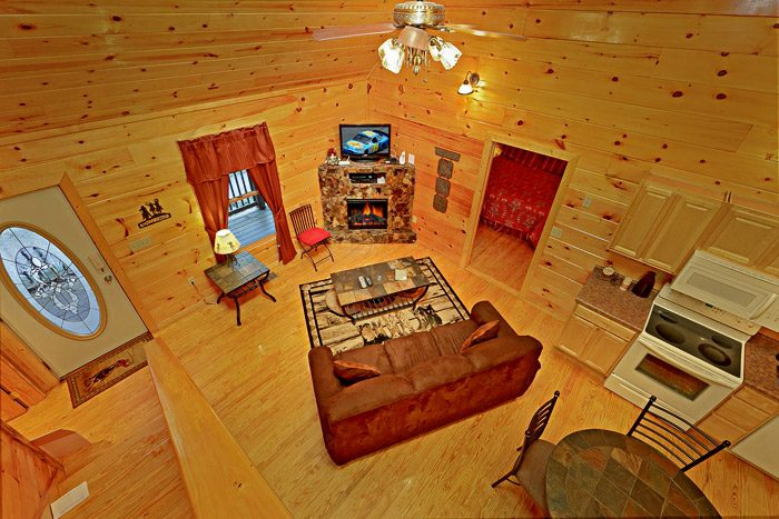 View from Loft of Cabin - At Trails End