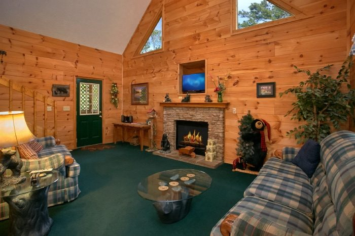 2 Bedroom Pigeon Forge Cabin Sleeps 6 BD Hideaway
