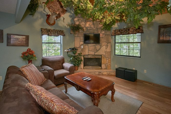 Rustic 1 Bedrom Cabin with Fireplace - Bare Bottom Cabin