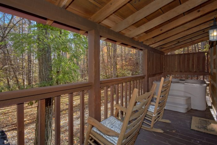 Rocking Chairs on Deck 1 Bedroom Cabin - Bare Kissin And Huggin